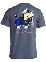 Puppie Love Rescue Dog Adult Unisex Short Sleeve Graphic T-Shirt, Marine Pup