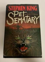 Mascota Sematary Stephen King Tapa Dura Funda 1983 Book Club Edición Dou... - £26.85 GBP