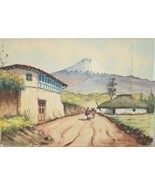 LATIN AMERICAN WATERCOLOR ON PAPER SIGNED BY THE ARTIST AND DATED 1966 - $119.00
