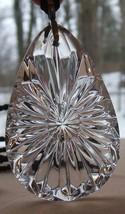 Waterford Made In Ireland Crystal Snowflake Tear Drop Pendant Nib - $79.19
