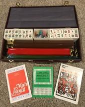 Vintage Mahjong - MAH JONGG GAME SET 164 TIles, Dice, Racks, Case - $93.15