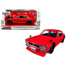 1971 Nissan Skyline GT-R Red (KPGC10) JDM Tuners 1/24 Diecast Model Car ... - $30.04