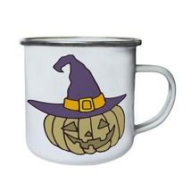 Pumpkin Halloween Retro,Tin, Enamel 10oz Mug q400e - $13.13