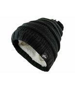 Fear0 Kids Extreme Warm Plush Wool Insulated Black Knit Cable Pom Pom Sk... - $25.83