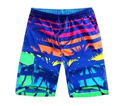East Majik Multicolor Men's Beach Shorts Casual Sport Trunks Quick Dry Shorts - $19.54