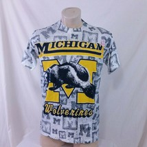 Vintage 90s Michigan Wolverines All Over Print T Shirt Single Stitch Tee... - $69.99