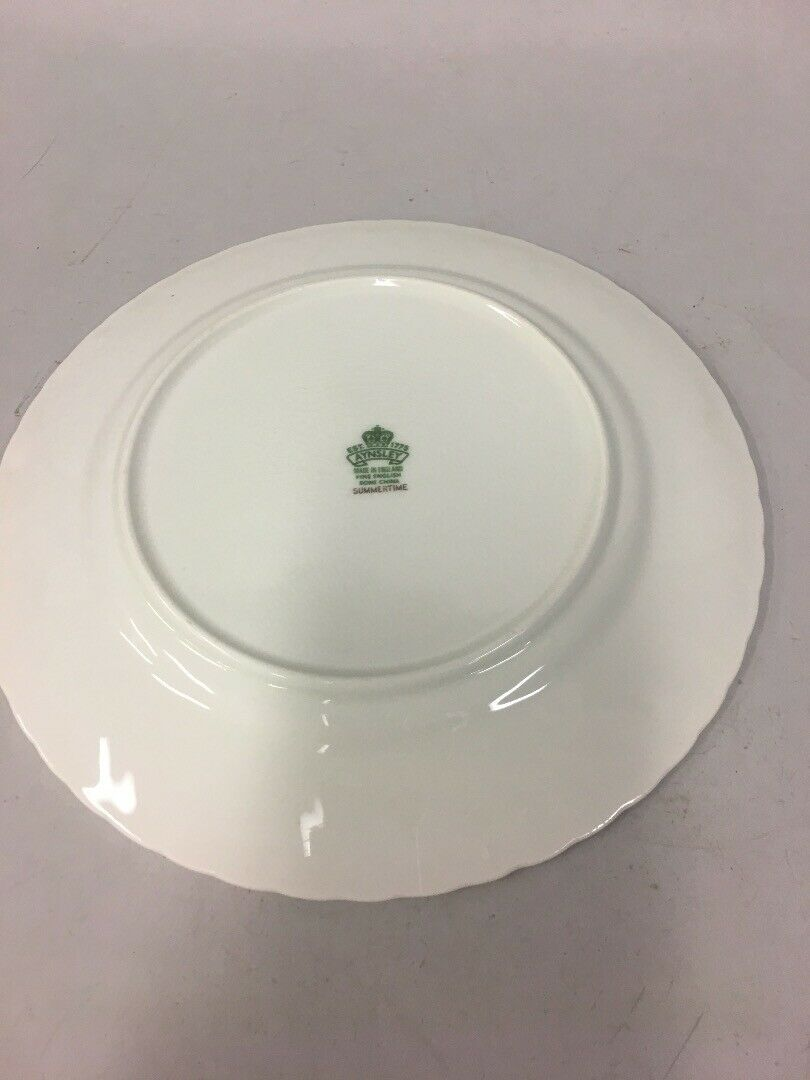 Vintage AYNSLEY Bread  Butter Plate SUMMERTIME Fine Bone China ENGLAND EXCELLENT