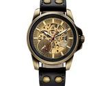 Keleton mechanical male clock automatic wristwatch leather strap relogio masculino thumb155 crop