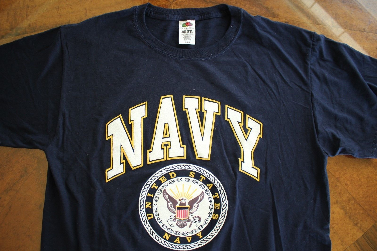Primary image for USN US NAVY ALL RANKS RATES SHIP SHORE AIR ATHLETIC PT CREWS S/S BLUE T-SHIRT 2X