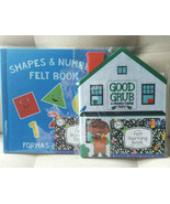 Kids Felt Books K & Up Healthy Eating Shapes & Numbers Early Learning Sc... - $9.02