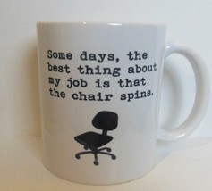 """Vintage Mug """"Chair that Spins"""" 3.75"""" Black and White - $15.00"""