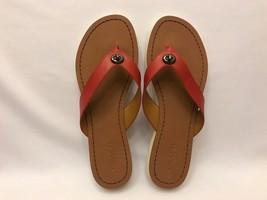 Coach Shelly Semi Matte Calf Leather Flip Flop ... - $59.39