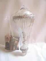 "Hot Air Balloon ORNAMENT  Vintage Style Glass Tinsel  7-1/2"" long  Betha... - $29.69"