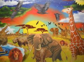 Melissa & Doug Jigsaw Puzzle Safari Adventure 200 Interlocking Pieces Se... - $8.99