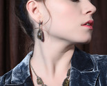 D01468b 2018 new antique shell brown resin geometry drop earrings for women gift 2 thumb155 crop