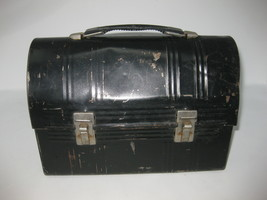 Vintage Aladdin Industries Black Metal Miner Lunch Box Dome LidLunch Pail - $39.59