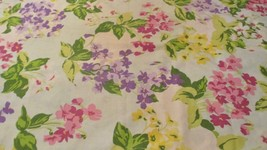 Vintage Pink and Green Floral Pillowcase Flower Power Mod - $11.87