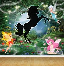Fairy Fairies Unicorn Feature Wall Art Mural Wall Paper Self Adhesive Vinyl - $43.27+