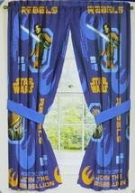 Disney Boys Star Wars Rebels Window Panels Curtain Set 42x63 New - $19.99