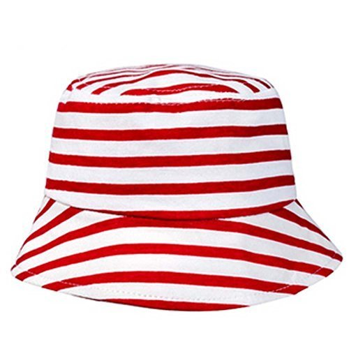 Durable Stripe Fisherman Baby Cap Sun-resistant Cotton Infant Hat