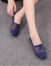 Blue Wedding Shoes/ Lace Bridal Shoes/Champagne Shoes/Royal blue Lace Fl... - $38.00