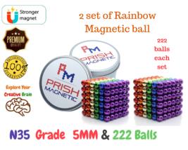 2 set(1 set = 222 pcs) of rainbow Magnetic balls - Kids Mind Puzzle Game... - $19.99