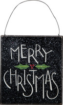 PBK Christmas Decor - Prim Black Merry Christmas Sign - $12.95