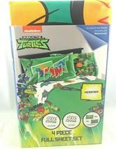 Teenage Mutant Ninja Turtles FULL Sheet Set 4 Pieces Nickelodeon Free Shipping - $34.99