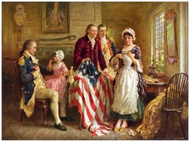 5995.Decoration Poster.Betsy Ross makes American flag.Home Office histor... - $10.89+