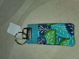 Keyrings blue white, flowers, beautiful! USB lighter chapstick holder - $6.90