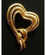 Crown Trifari Trifanium Heart Knot Pin Brooch  ca 1950 - A Ballroom Alta... - $43.90