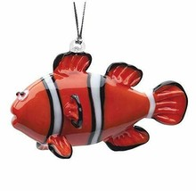Hand Crafted Glass Christmas Tree Ornament or Figurine, Clown Fish - $27.67