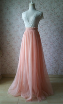 PINK High Waisted Full Length Tulle Skirt Pink Wedding Bridesmaid Tulle Skirt image 2