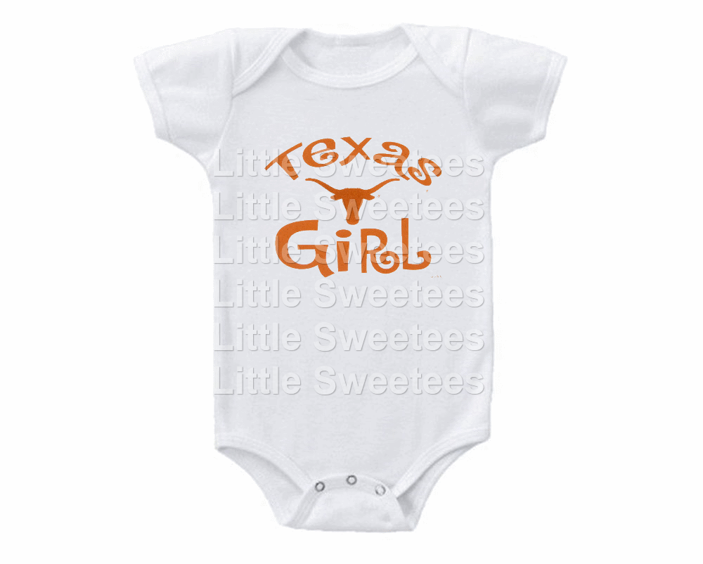 Primary image for Texas Longhorns Onesie Texas Girl Shirt