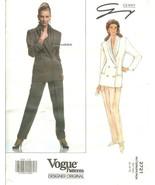 Vogue 2721 Designer Original by Genny Misses Jacket & Pants Pattern 12,1... - $15.47