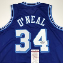 Autographed/Signed SHAQUILLE SHAQ O'NEAL Los Angeles Lakers Blue Jersey ... - €155,92 EUR