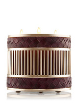 Bath & Body Works WOVEN VEGAN LEATHER 3-Wick Candle Sleeve - $44.00