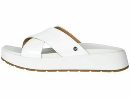 UGG EMILY White Women's Patent Leather Cross Slide Sandals 1107896 - $89.00