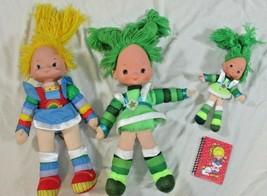 Rainbow Brite vintage 3 dolls lot notebook bright Patty O'Green Hallmark - $26.72