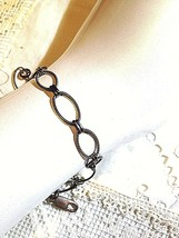 Heavy Vintage Chain Link 925 Sterling Silver Charm Bracelet - $64.35