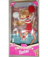 Mattel Barbie Doll University Arkansas Cheerleader 1996 red white uniform H - $47.77