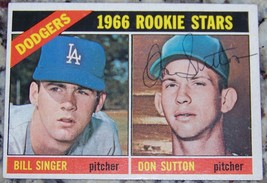 1966 Topps Don Sutton Rookie Rc Signed Autographed Baseball Card Auto JS... - $113.85