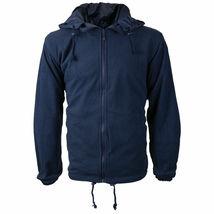 Men's Water Resistant Polar Fleece Lined Hooded Windbreaker Rain Jacket image 8