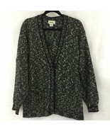 Magnet Melange Black White Wool Blend Knit Sweater Cardigan Button Pocke... - $32.95