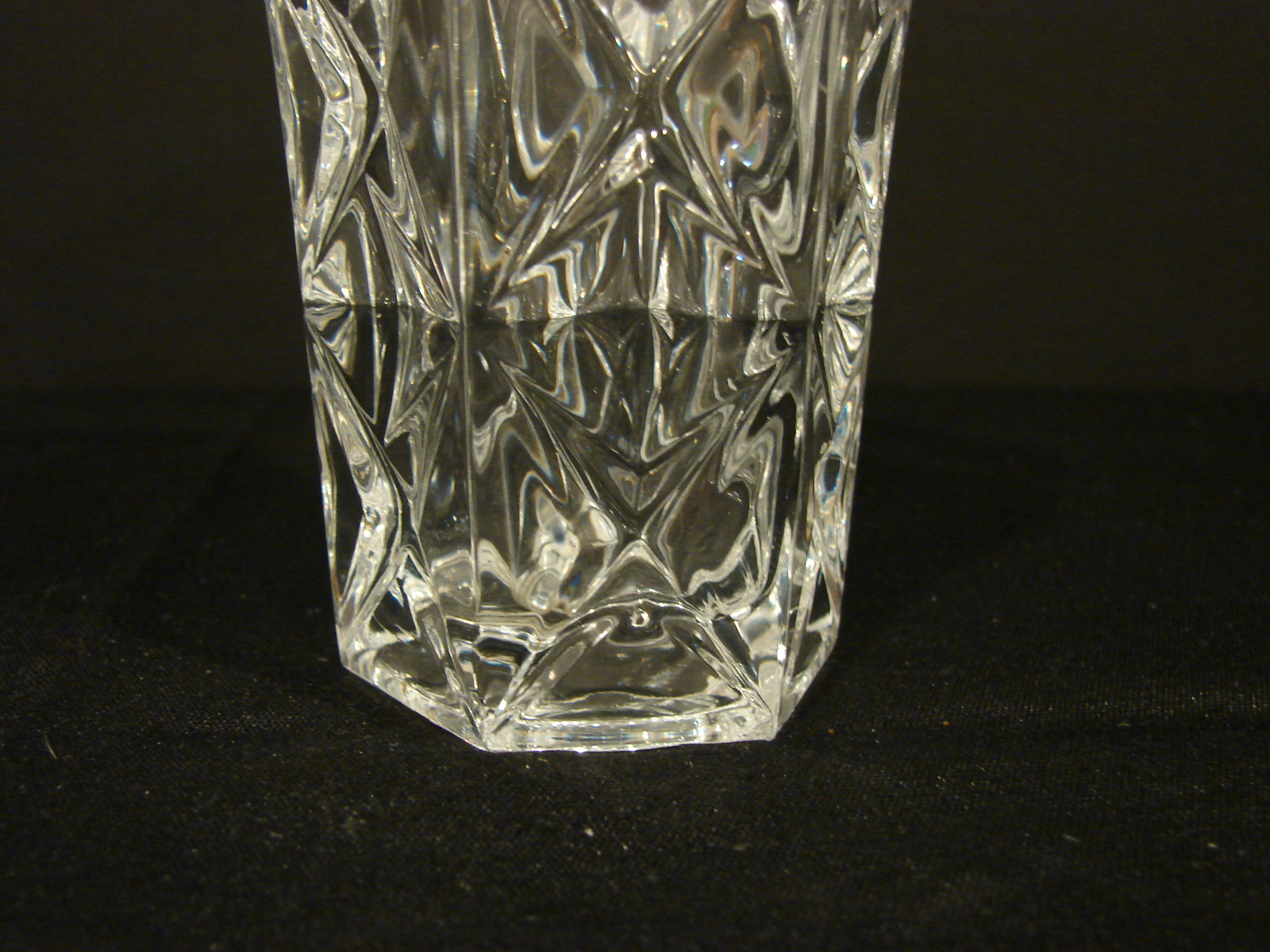 Two Matching 5 Inch Crystal d' Arques-Durand Sully Pattern Bud Vases image 4