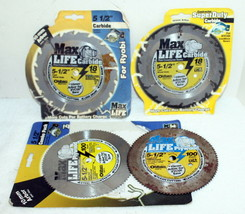 "4 Oldham Max Life 5-1/2"" Circular Saw Blades ~ 2- 18 Tooth Carbide 2- 10... - $46.99"