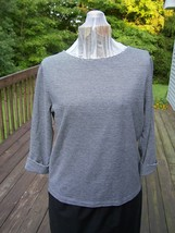 St. John's Bay Grey and Black Striped Top New without tags - $10.99