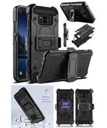 Samsung Galaxy S8 Active Case Shockproof Belt Clip Full Body Holster Bla... - $17.25