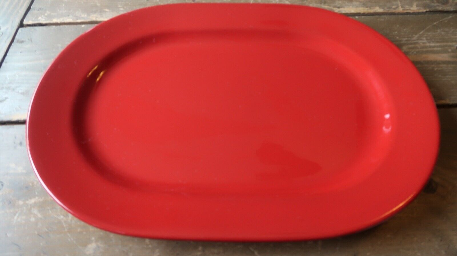 """Fun Factory Freestyle Red-Cherry Germany Oval 13.75"""" Serving Tray Platter"""