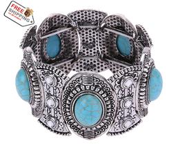 Turquoise Cute Tibet Bracelet Classical Women's Retro Vintage Jewlery - $16.00